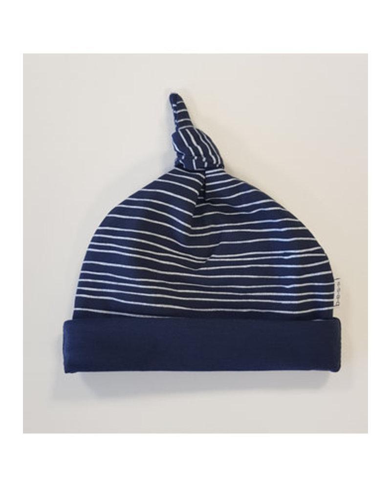 BESS Hat Pinstripe Blue