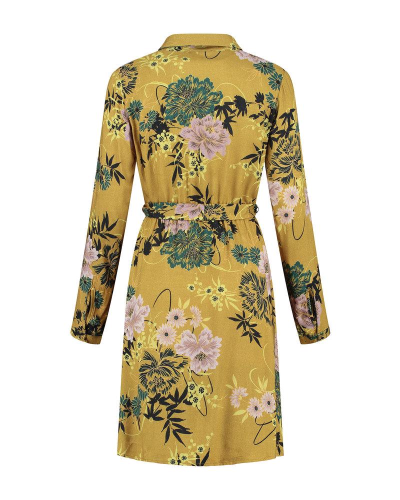 LOVE2WAIT Dress AOP Flower-Ocre