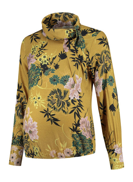 LOVE2WAIT Blouse AOP Flower-Ocre