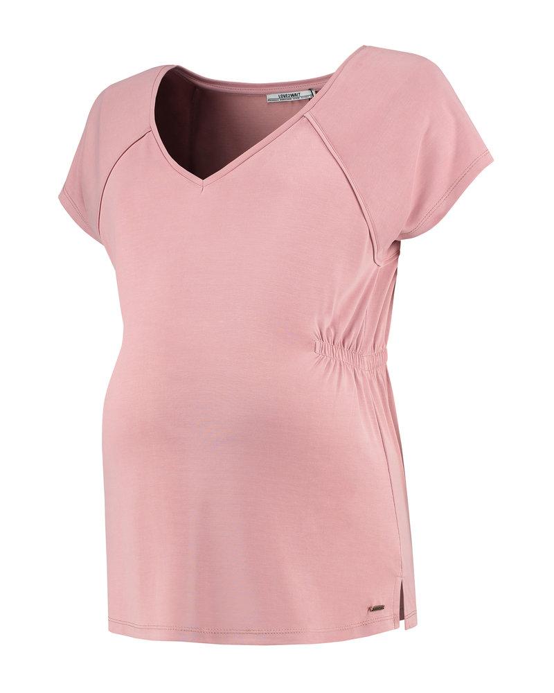 LOVE2WAIT Shirt sh.sl. Cupro-Pink