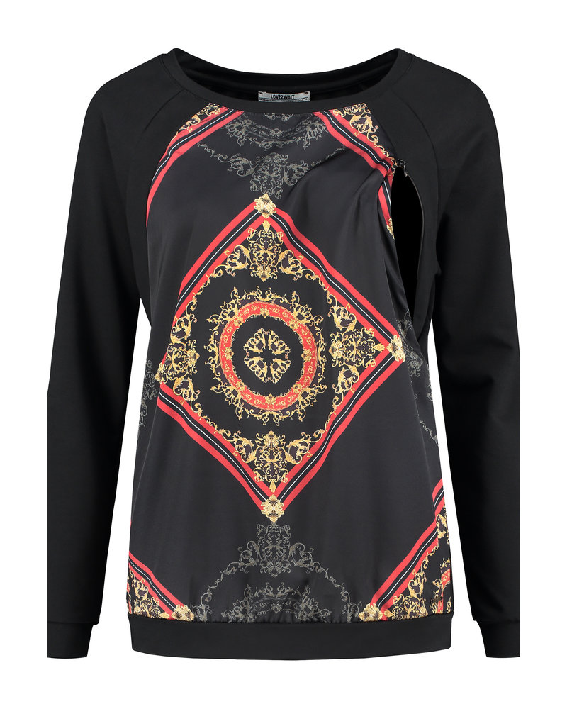 LOVE2WAIT Sweater Nursing Baroque-Black
