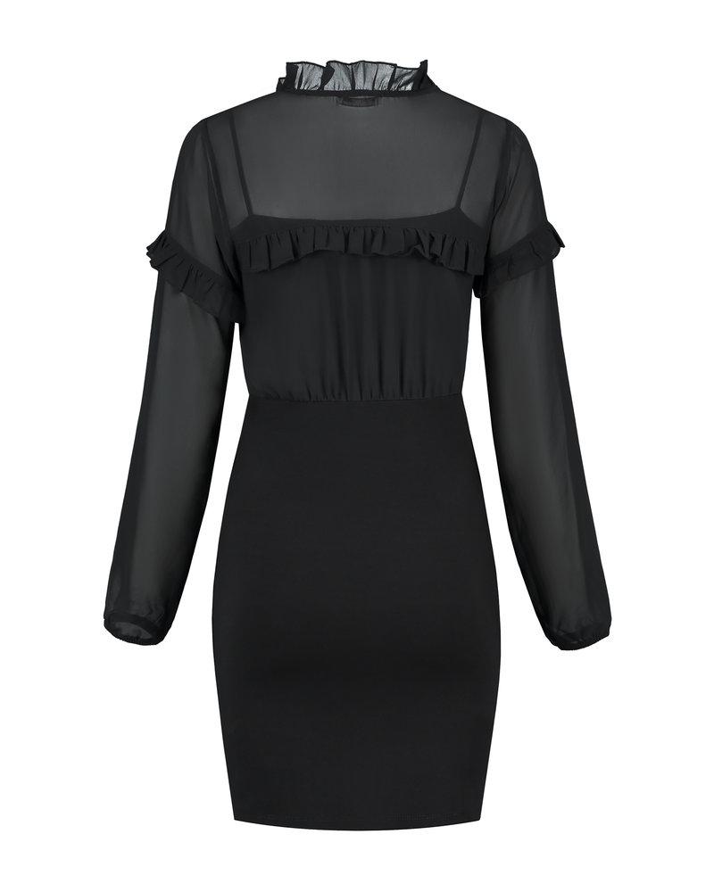LOVE2WAIT Dress Nursing Ponte-Voile-Black