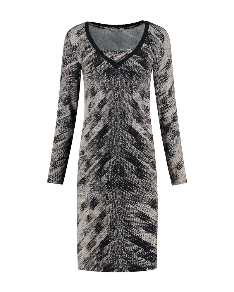 LOVE2WAIT Dress Nursing AOP-Grey print