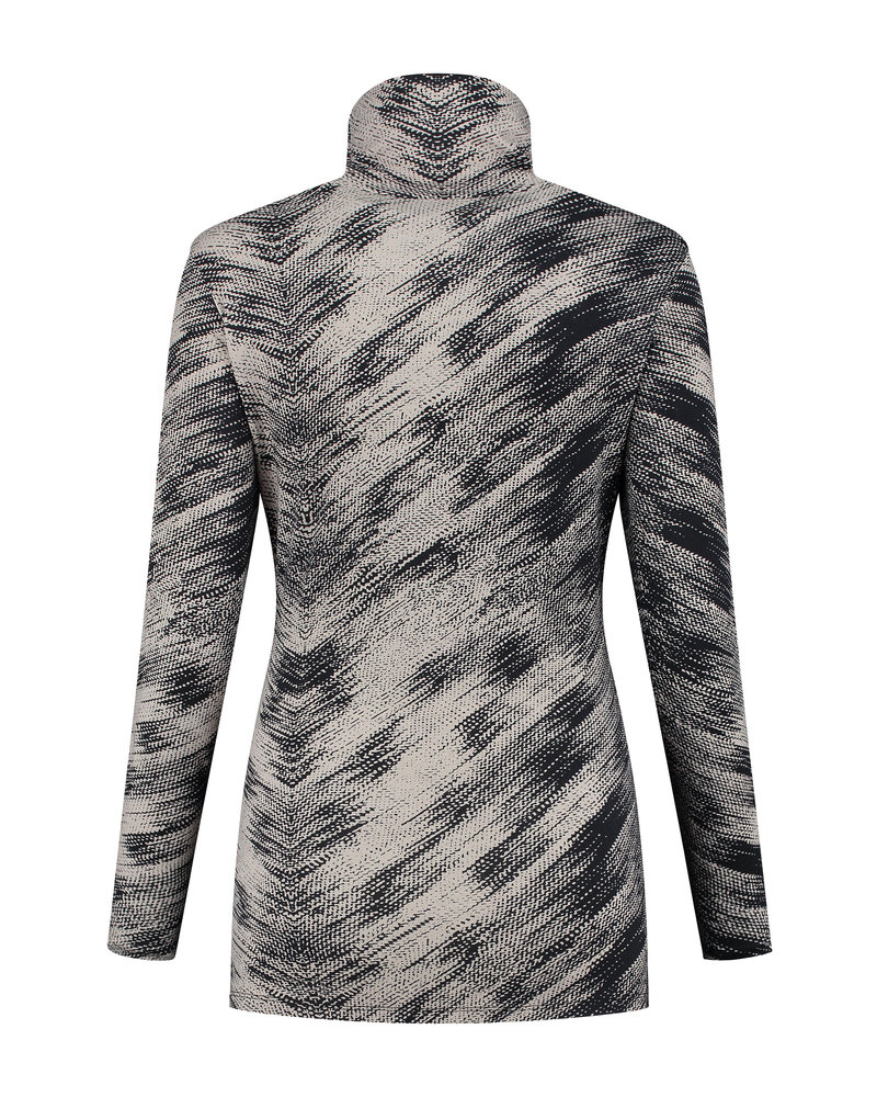 LOVE2WAIT Shirt Tight Collar AOP-Grey print