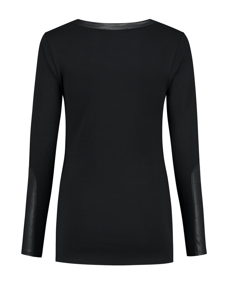 LOVE2WAIT Shirt Leather Sleeves-Black