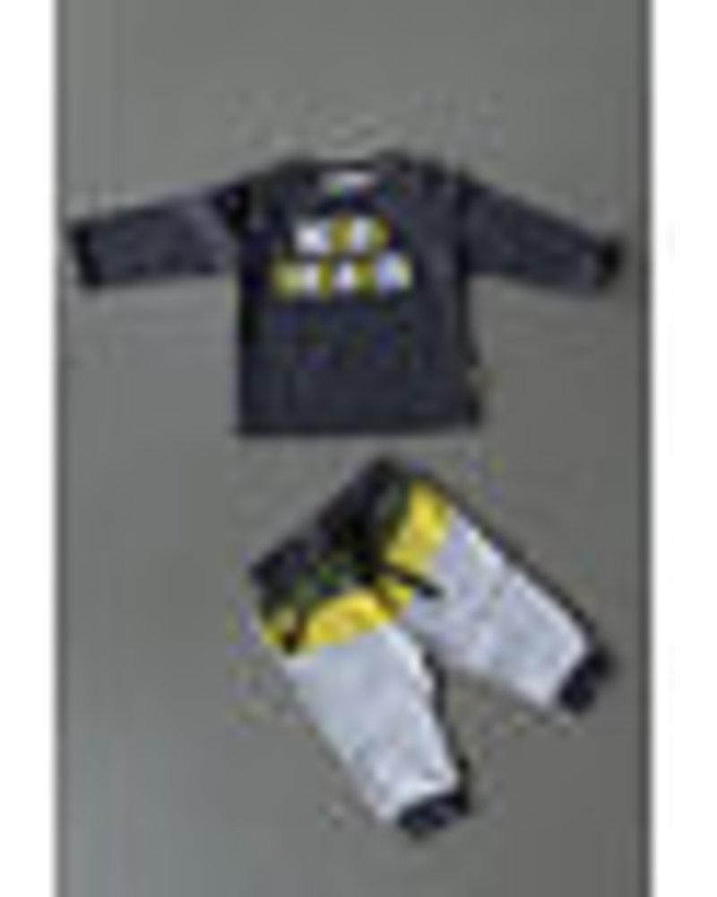 BESS Pants Colorblock-Grey-19822-002
