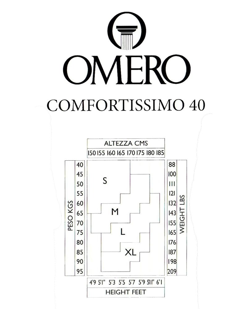 Omero Omero Comfortissimo 40den mat half transparante Panty - Cappuccio