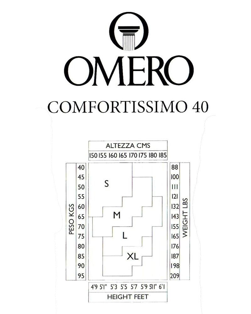 Omero Omero Comfortissimo 40den mat half transparante Panty - Zwart