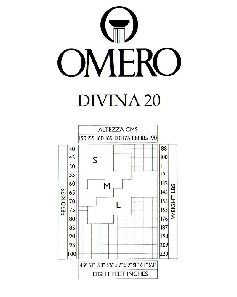 Omero Omero Divina 20den Naadloze panty - Huidskleur