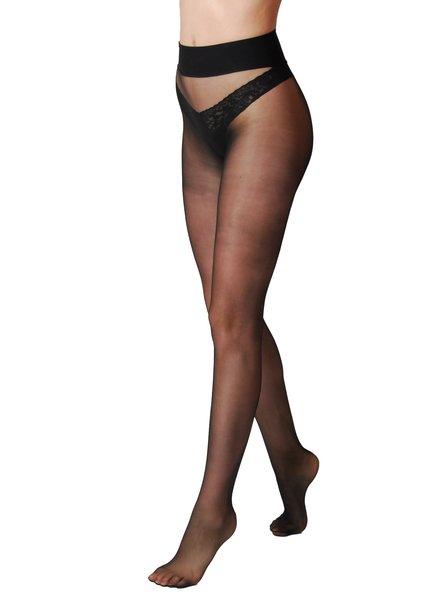 Omero Omero Divina 20den Naadloze panty - Zwart