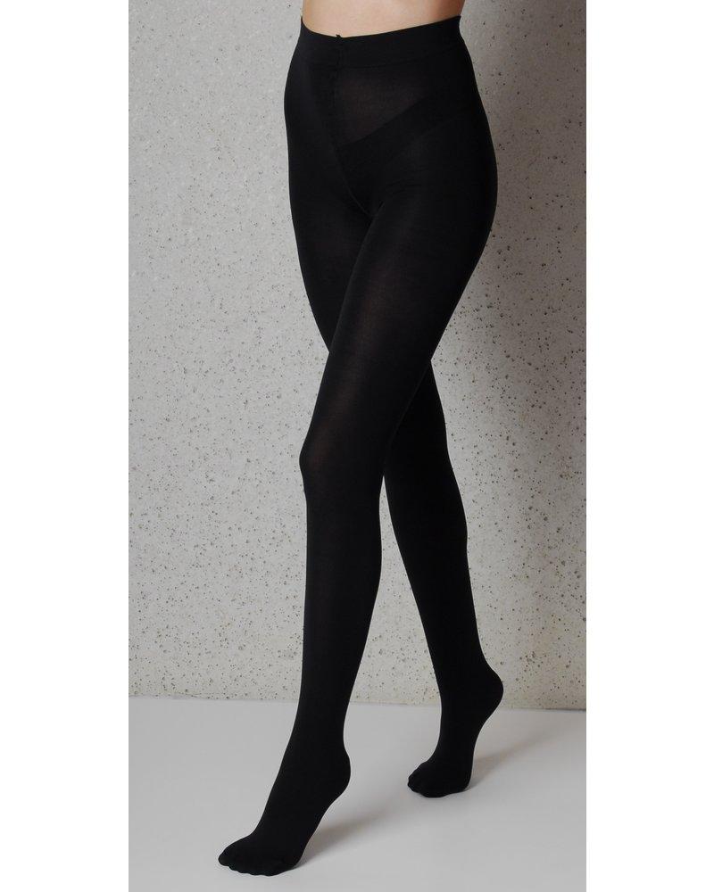 Omero Omero Iride opaque 100DEN 3D Panty - Zwart