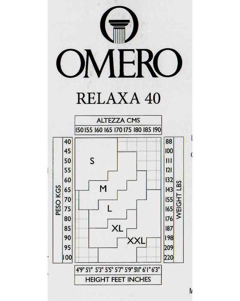 Omero Omero Relaxa 40den met afslankende controle top - Zwart