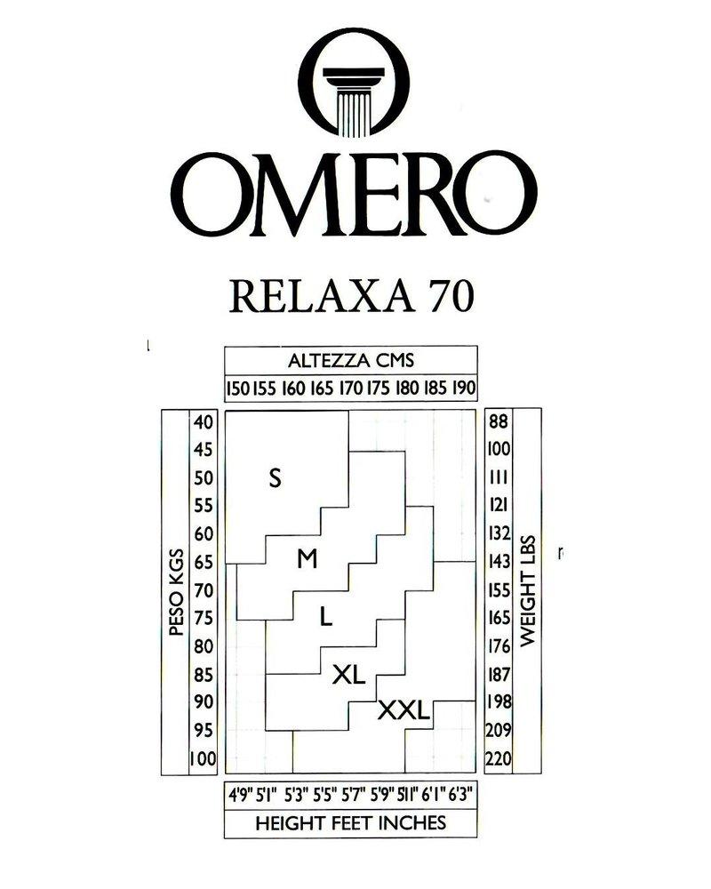 Omero Omero Relaxa 70den met afslankende controle top - Zwart