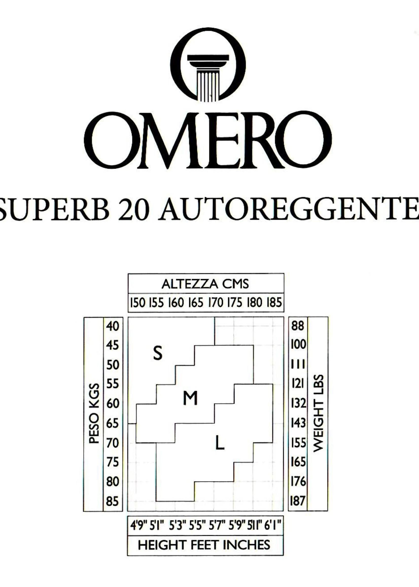 Omero Omero SuperB 20den Matte Sheer Stay Up met Tailleband van 13cm - Huidskleur