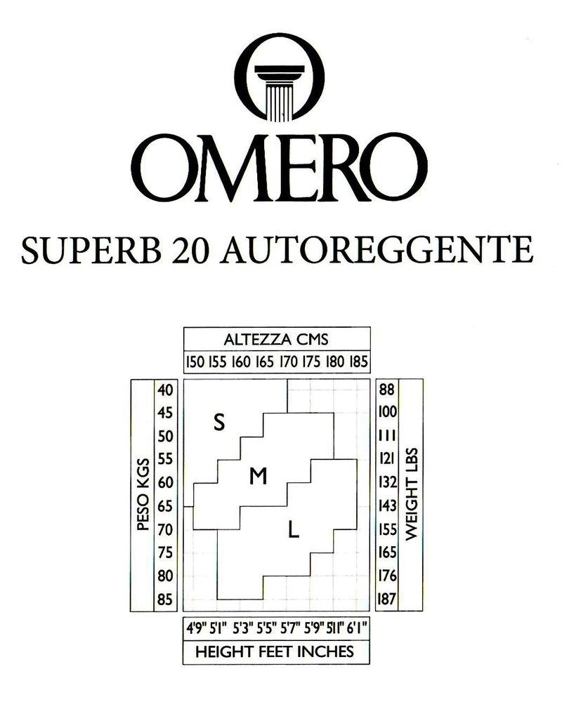 Omero Omero SuperB 20den Matte Sheer Stay Up met Tailleband van 13cm - Zwart