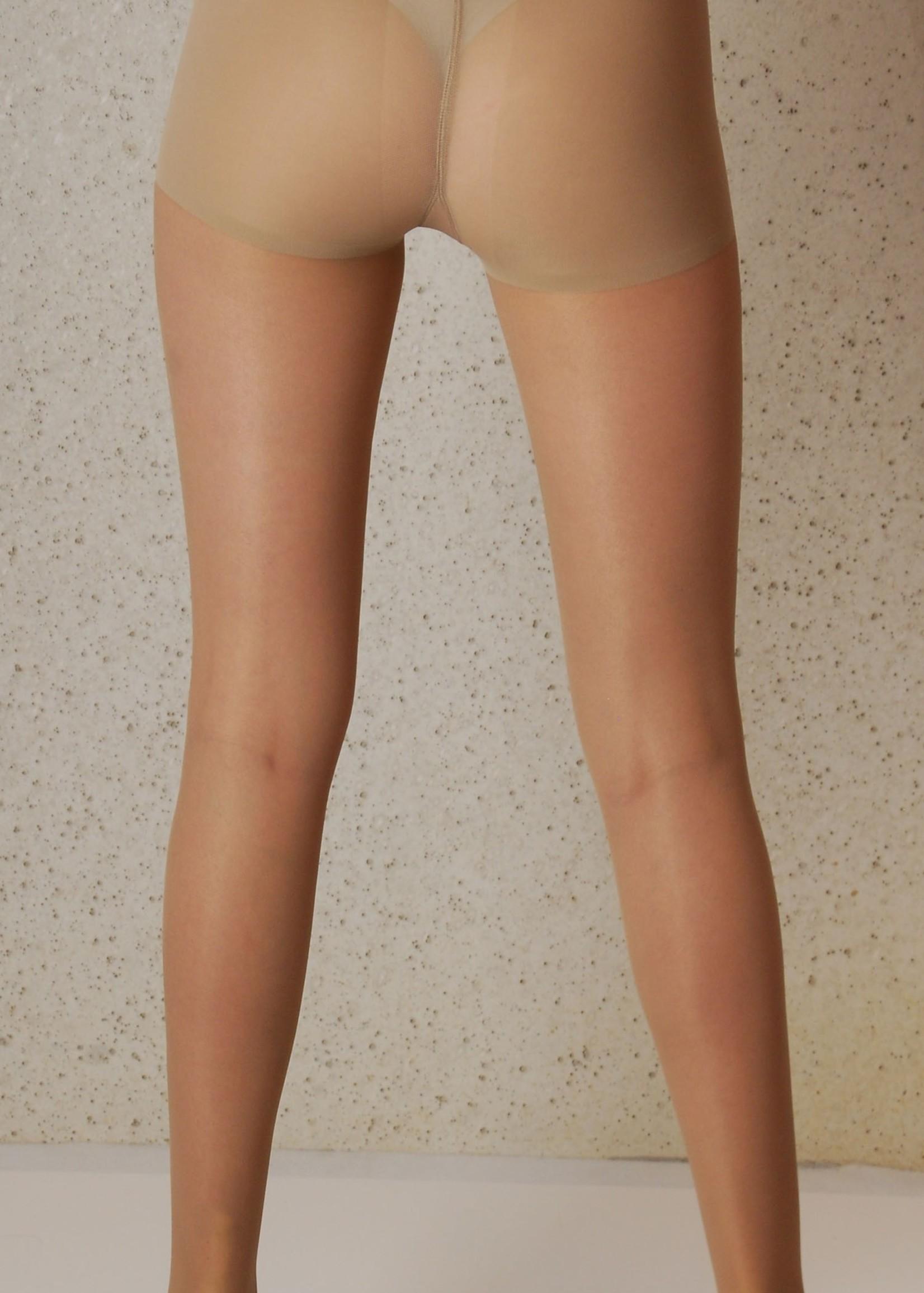 Omero Segretta 140 Young  Sheer Panty sterke Compressie met Shape Up broekje - Nature