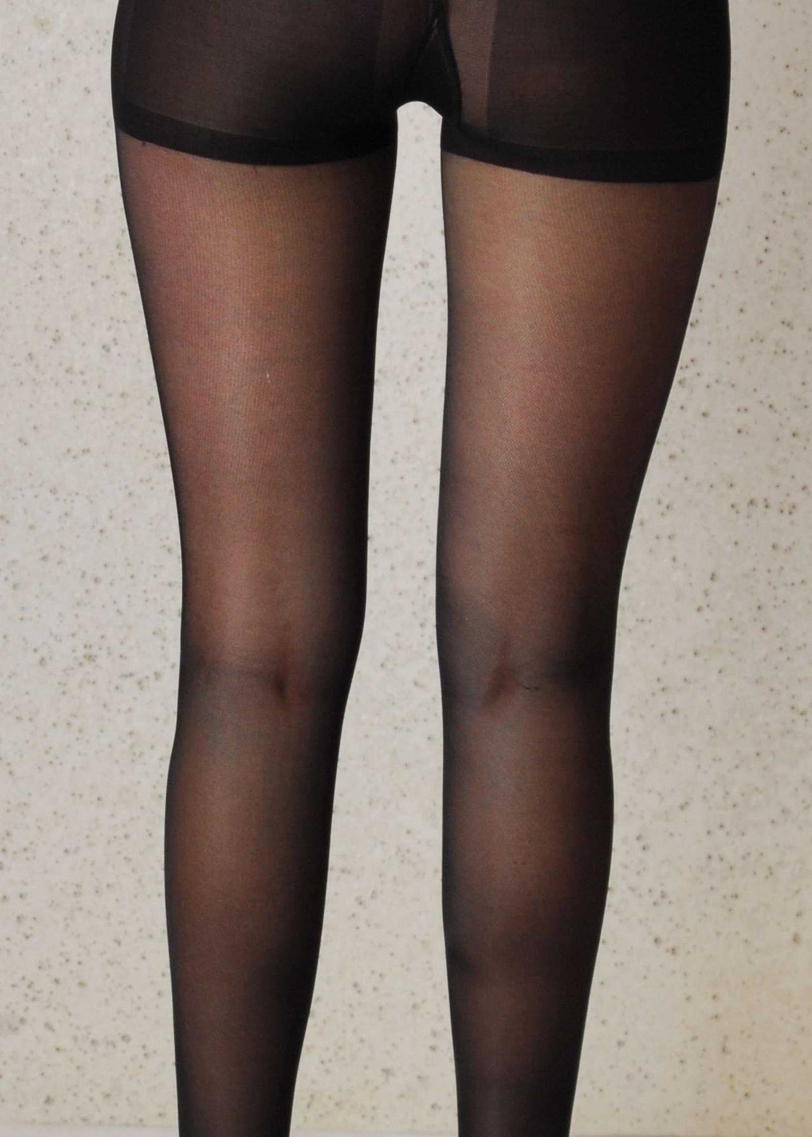 Segretta Segretta 140 Young  Sheer Panty sterke Compressie met Shape Up broekje - Zwart