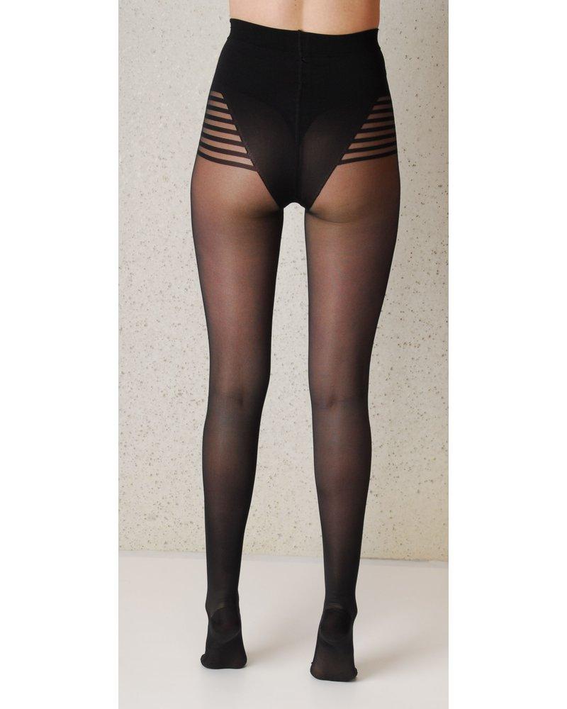 Segretta Segretta Silhouette 70 DERM® Panty met Medium Compressie - Zwart