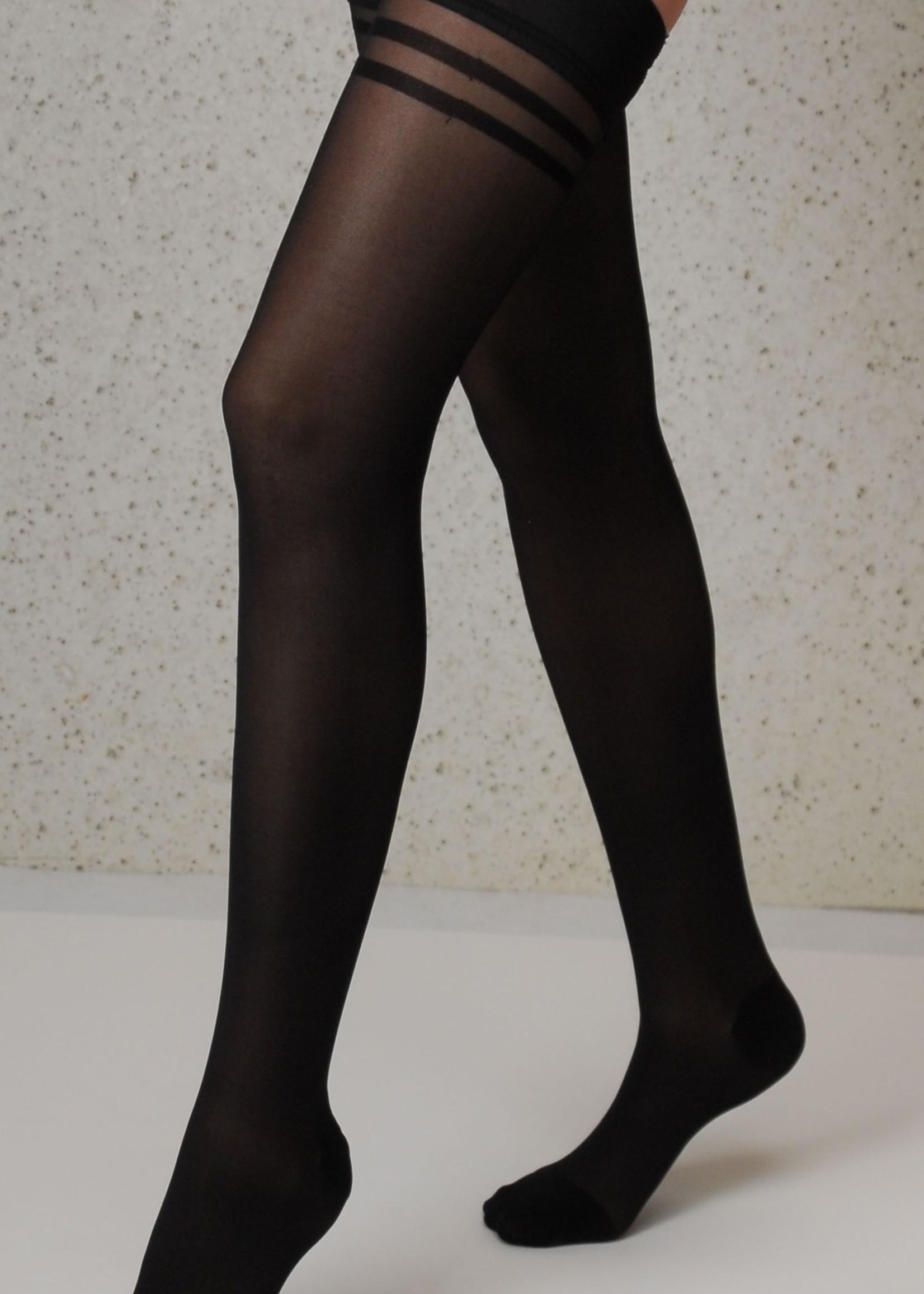 Segretta Segretta Silhouette 70 DERM® Stay Up met Medium Compressie - Zwart