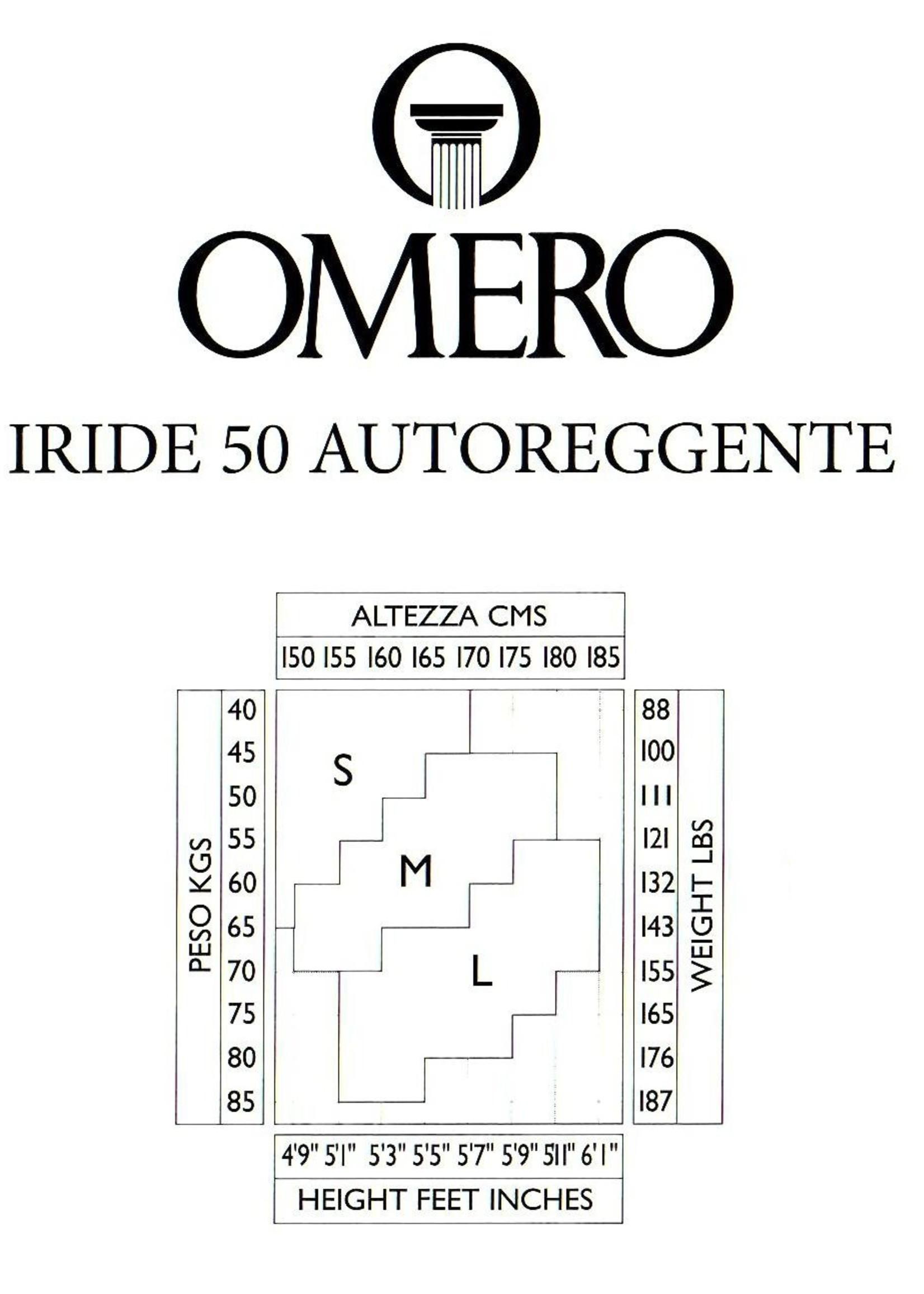Omero Omero Iride 50den Opaque Stay Up - Zwart