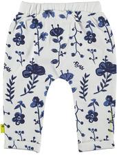 LOVE2WAIT Pants AOP Blue Flowers White