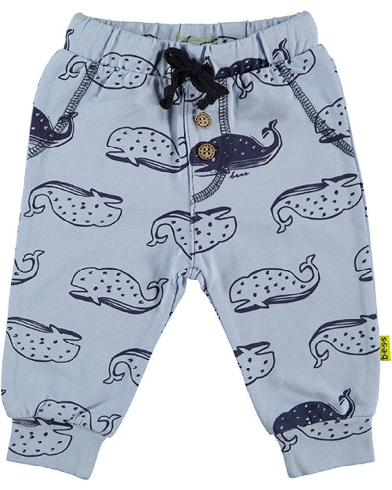 LOVE2WAIT Pants AOP Whales Lightblue