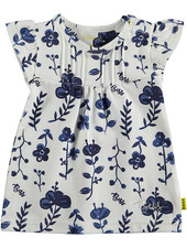 BESS Dress AOP Blue Flowers White