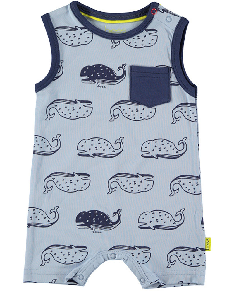LOVE2WAIT Playsuit AOP Whales Lightblue