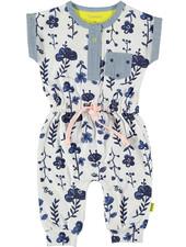 LOVE2WAIT Suit sh.sl. AOP Blue Flowers White