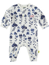 LOVE2WAIT Suit AOP Blue Flowers White