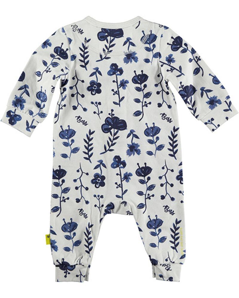 LOVE2WAIT Suit AOP Blue Flowers White