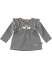 LOVE2WAIT Shirt l.sl. Ruffle Striped Black