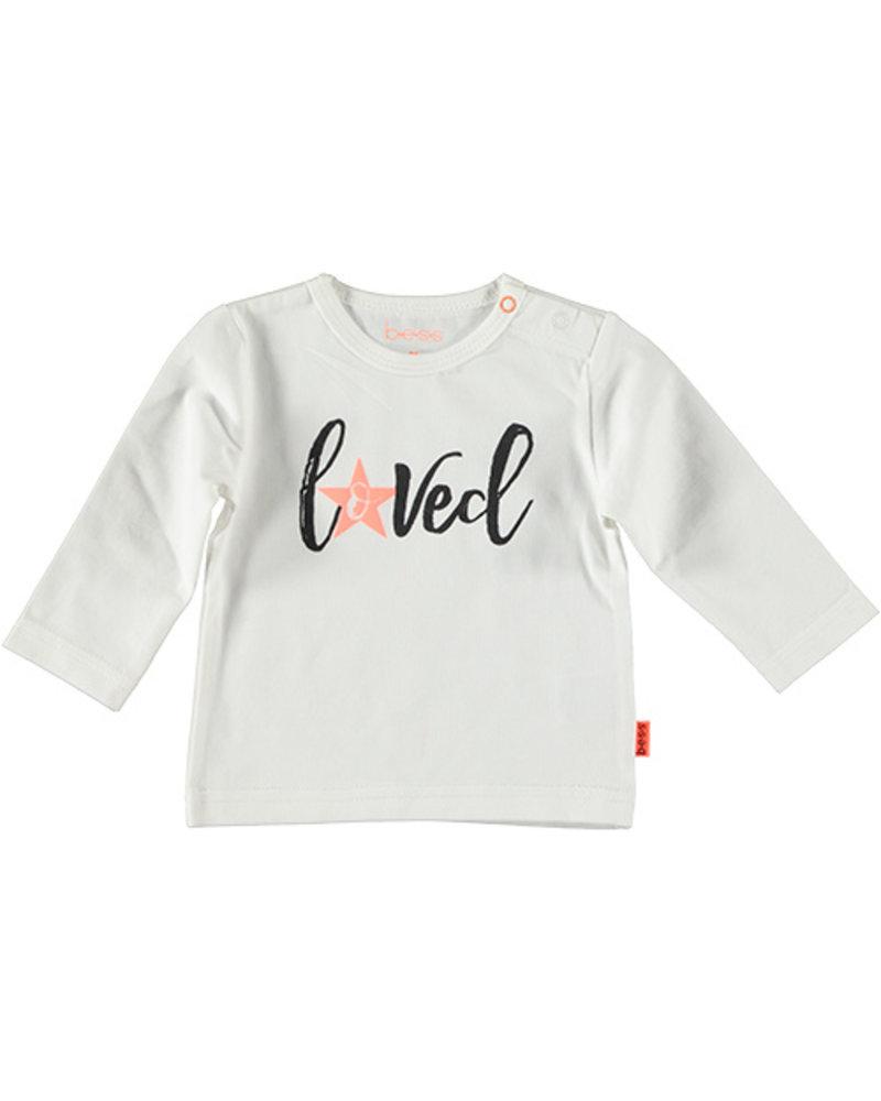 LOVE2WAIT Shirt l.sl. Loved White/PINK STAR