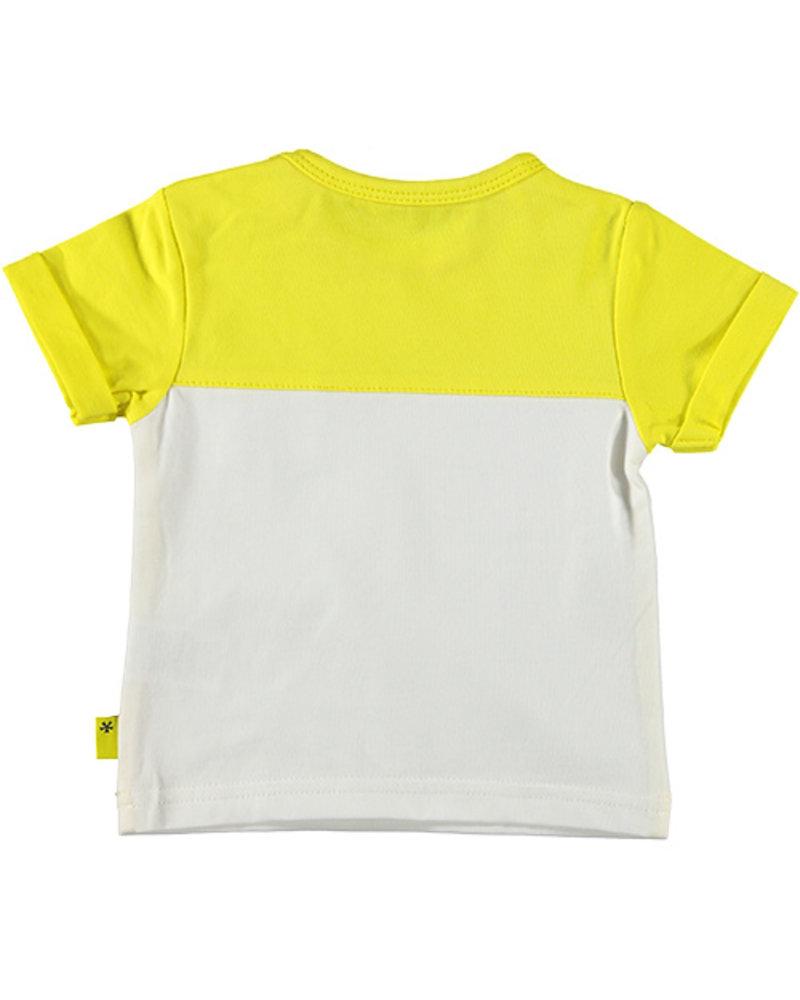 LOVE2WAIT Shirt sh.sl. Colorblock Yellow