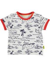 LOVE2WAIT Shirt sh.sl. AOP Seaworld White