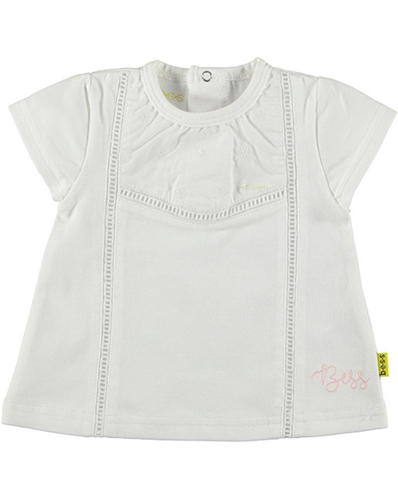 LOVE2WAIT Shirt sh.sl. Crochet White