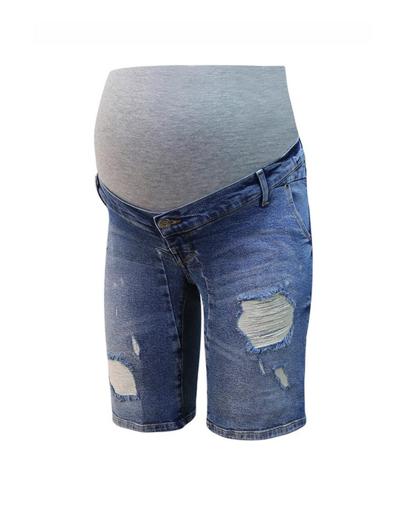 LOVE2WAIT Shorts Destroyed-Stone Wash