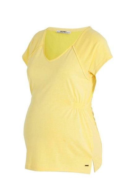 LOVE2WAIT Shirt V-Neck Cupro Touch-Yellow