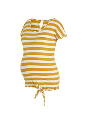 LOVE2WAIT Shirt Striped Knot-Ocre