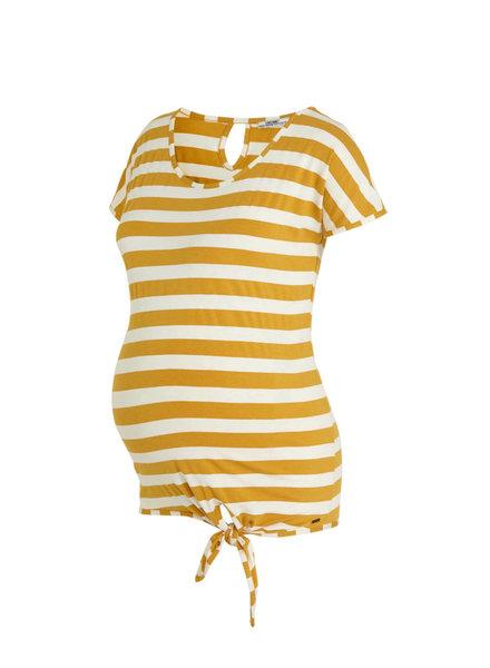 LOVE2WAIT Shirt Striped Knot-Ocre