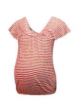 LOVE2WAIT Shirt Ruffled Striped-Red