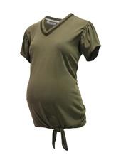 LOVE2WAIT Shirt Cupro Touch Knot-Green