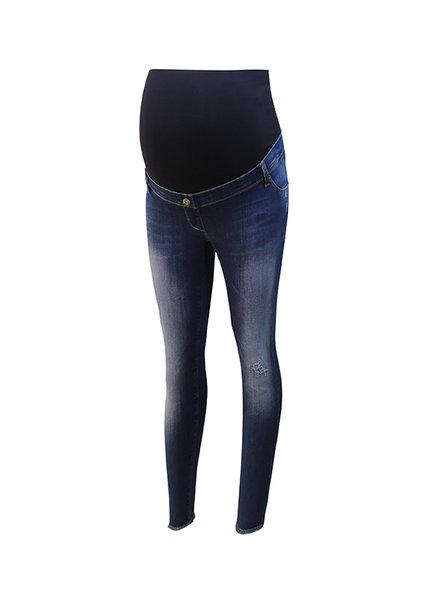 LOVE2WAIT Jeans Sophia Cropped Destroyed-Stone Wash