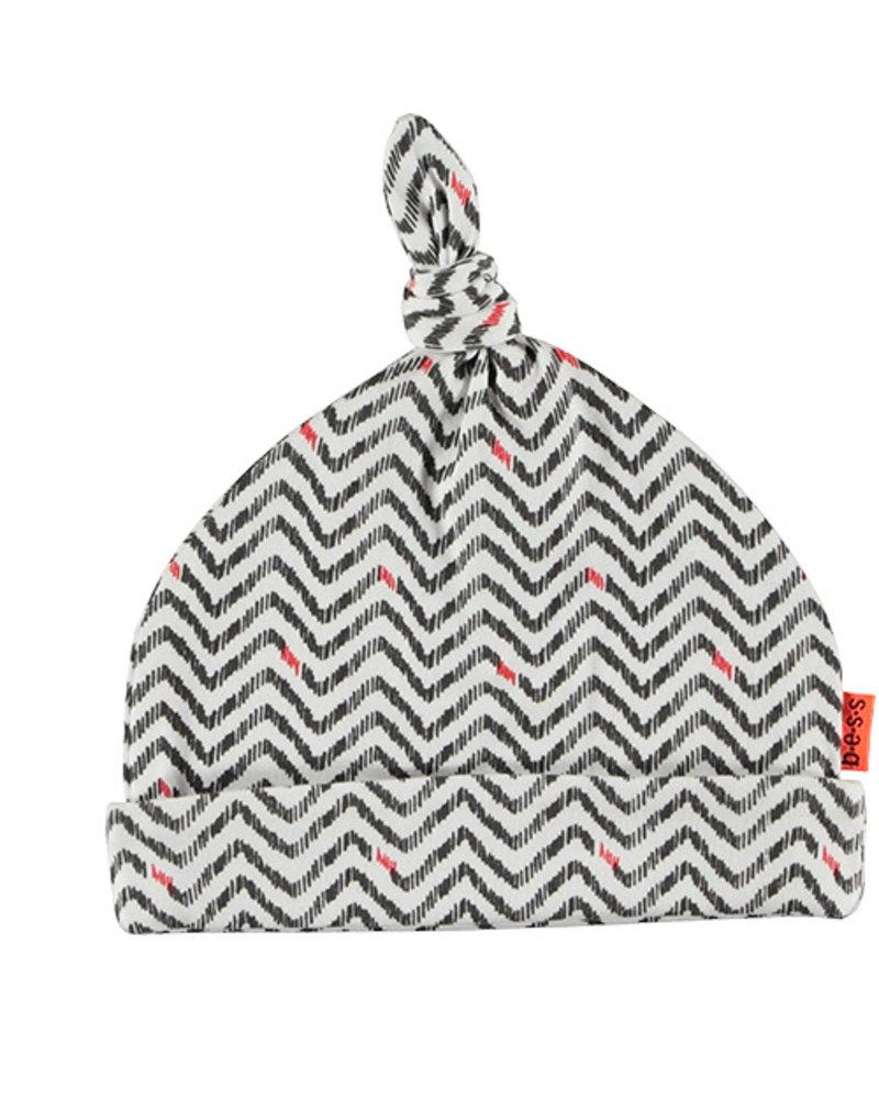 BESS Hat AOP Zigzag White