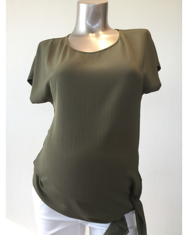 ATTESA BLOUSE WITH KNOT 4528-39068