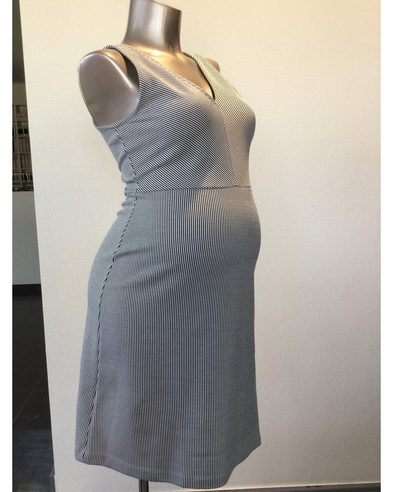 FRAGILE SOFT FEMININE V-DRESS DO3 NAVY