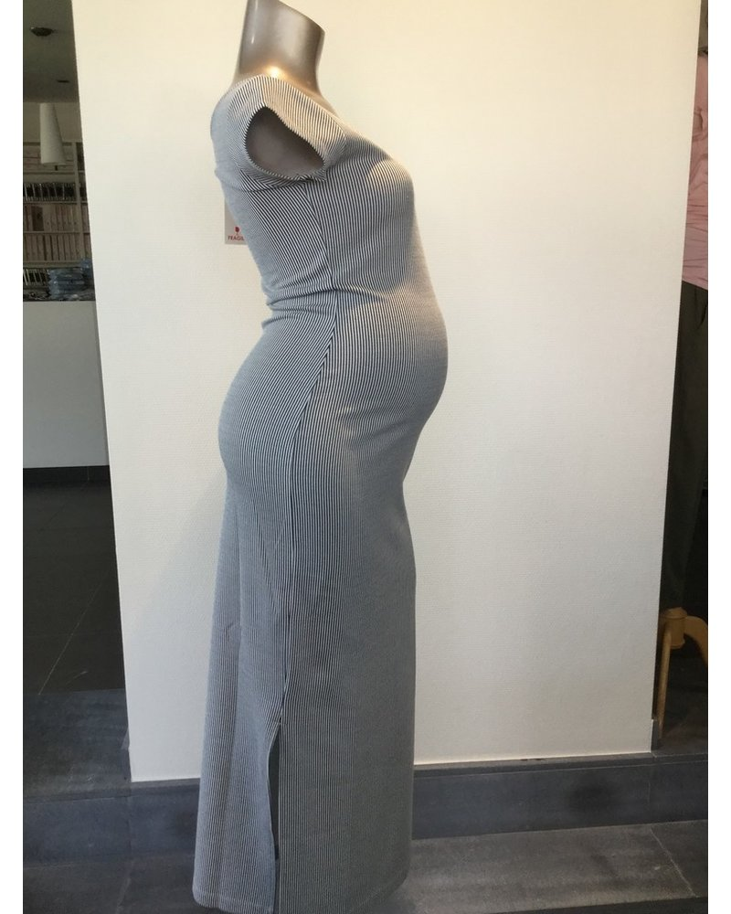 FRAGILE LONG V-NECK DRESS MS20D13