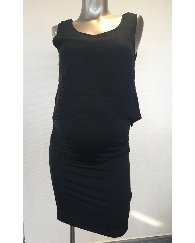 OHMA NURSING PENCEL DRESS + TOP 52030413 BLACK
