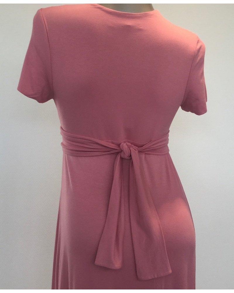 9FASHION CLUNE LONG DRESS RASPBERRY