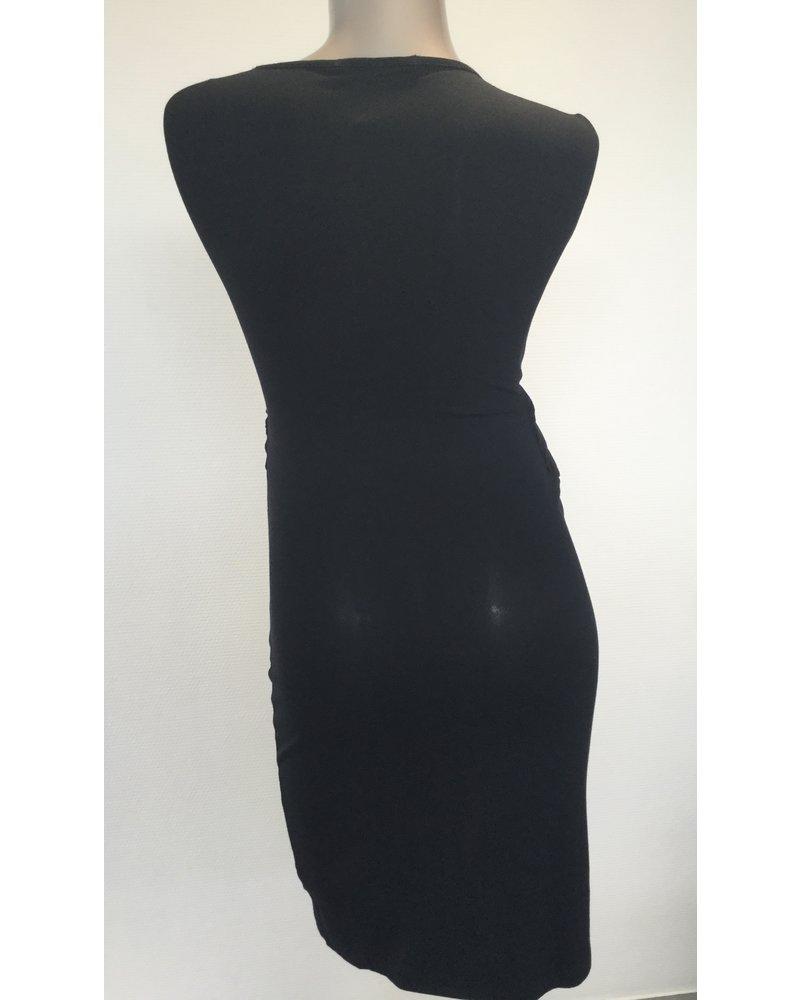 9FASHION SIDARI NURSING DRESS BLACK